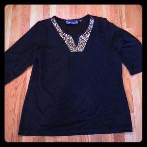 NWOT Black with Gold Embellishments